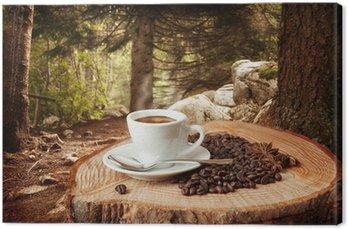 Obraz na Płótnie Kawy w tle