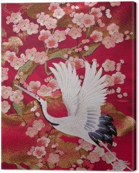Obraz na Płótnie Kimono 鶴