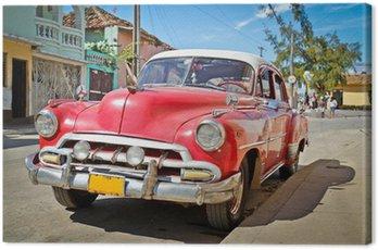 Obraz na Płótnie Klasyczna Chevrolet w Trinidad, Kuba