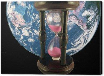 Obraz na Płótnie Klepsydra i ziemia
