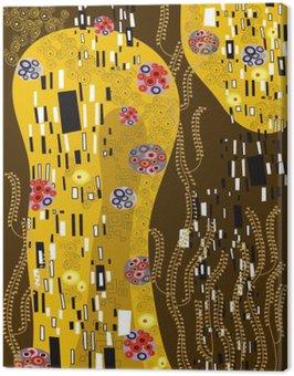 Klimt inspirowane streszczenie sztuki