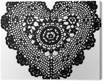 Obraz na Płótnie Knitting serce