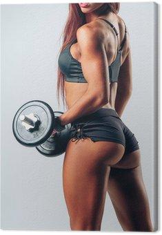 Obraz na Płótnie Kobieta fitness