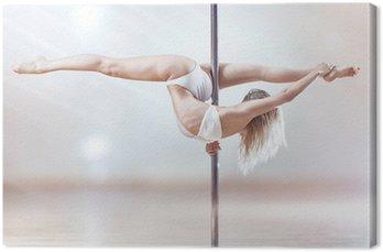 Obraz na Płótnie Kobieta tańca młodych Biegun