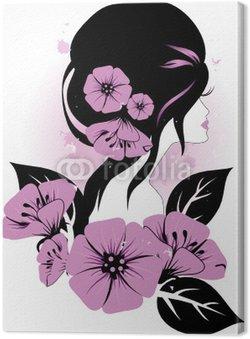 Obraz na Płótnie Kobieta z kwiatami