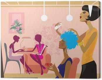 Obraz na Płótnie Kobiety w salonie piękności