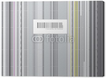Obraz na Płótnie Kod barre streszczenie