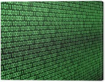 Obraz na Płótnie Kod binarny