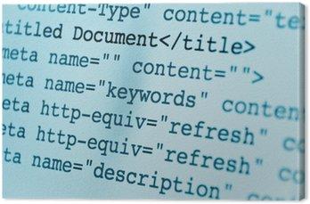 Obraz na Płótnie Kod html