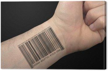 Obraz na Płótnie Kod kreskowy tatuaż.