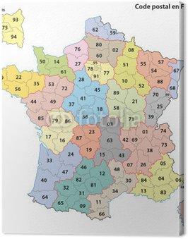 Obraz na Płótnie Kod pocztowy, Francja