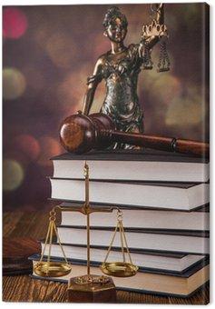 Obraz na Płótnie Kod Prawo i młotek