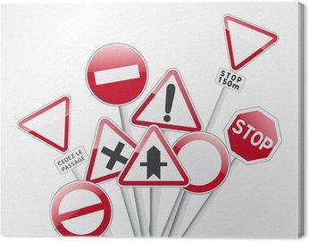 Obraz na Płótnie Kodować znaki drogowe