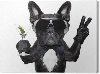 Obraz na Płótnie Koktajl pies pokój
