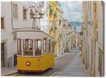 Obraz na Płótnie Kolejki Lizbony Gloria łączy centrum z dzielnicy Bairro Alto.