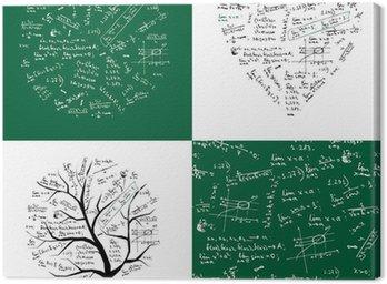 Obraz na Płótnie Kolekcja matematyka: ramki, drzewo, bez szwu tła
