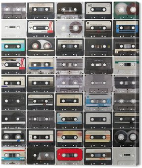Obraz na Płótnie Kolekcja retro taśm dźwiękowych