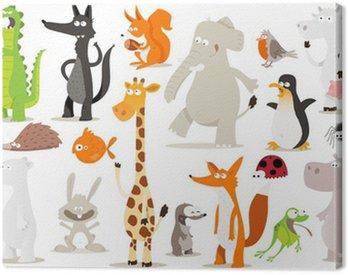 Obraz na Płótnie Kolekcja zwierząt dla dzieci