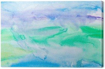 Obraz na Płótnie Kolor gładzi akwareli sztuki