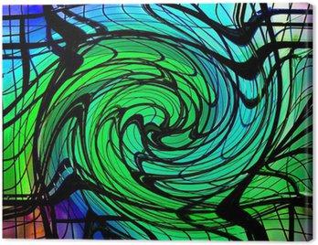 Obraz na Płótnie Kolor wirować 3