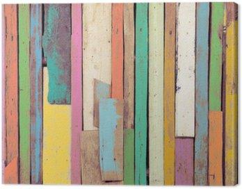 Obraz na Płótnie Kolorowa grafika malowane materiału drzewnego dla rocznika tle tapety.