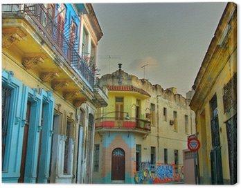 Obraz na Płótnie Kolorowe budynki Hawana