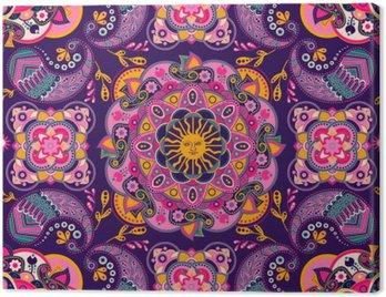 Obraz na Płótnie Kolorowe etniczne szwu wzór