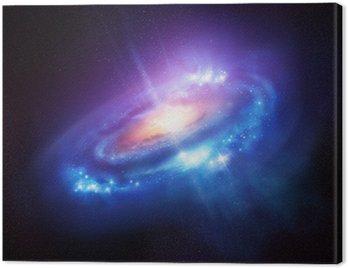 Obraz na Płótnie Kolorowe Galaktyka spiralna w Deep Space