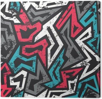 Obraz na Płótnie Kolorowe grafitti szwu z mocą grunge