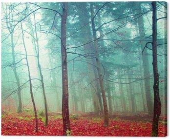 Kolorowe jesienne drzewa mistyczne