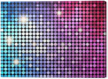 Obraz na Płótnie Kolorowe Kropki Streszczenie Disco tła. Vector Background