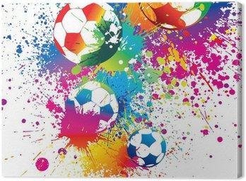 Obraz na Płótnie Kolorowe piłki na białym tle