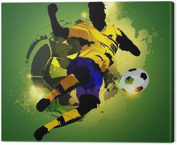 Kolorowe piłki nożnej fotografowania graczem