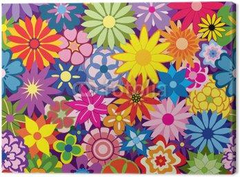 Obraz na Płótnie Kolorowe tło kwiat powtarzalne powtarzając