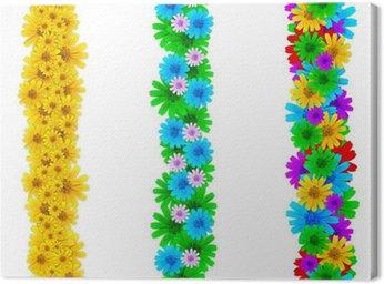 Obraz na Płótnie Kolorowych kwiatów elementów dla ramek strony