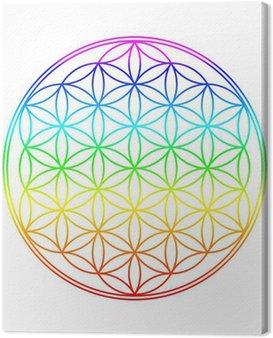 Obraz na Płótnie Kolory Chakra Flower of Life