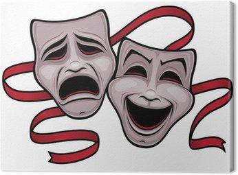Obraz na Płótnie Komedii i tragedii Maski Teatr