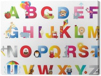 Obraz na Płótnie Kompletne Alfabet dla dzieci