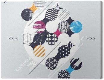 Obraz na Płótnie Kompozycja abstrakcyjna geometrycznej z kręgów dekoracyjnych