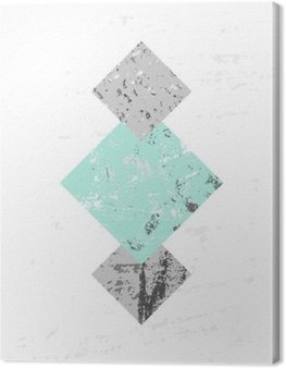 Obraz na Płótnie Kompozycja abstrakcyjna geometrycznej