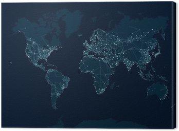 Komunikacja sieciowa mapa świata