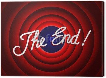 Obraz na Płótnie Komunikat o zakończeniu (prezentacja konkluzja ostatniego slajdu dziękuję)