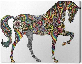 Obraz na Płótnie Koń i tęcza