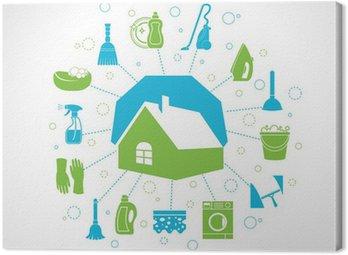 Obraz na Płótnie Koncepcja sprzątanie domu