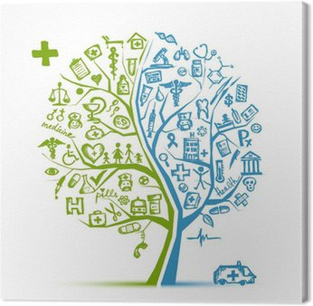 Obraz na Płótnie Koncepcji drzewa dla projektu medycznego