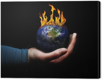 Obraz na Płótnie Koncepcji globalnego ocieplenia.