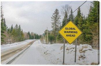 Obraz na Płótnie Koncepcyjne znak ostrzegawczy z globalnym ociepleniem