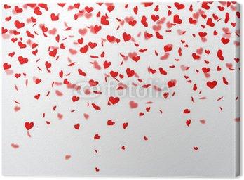 Obraz na Płótnie Konfetti serca