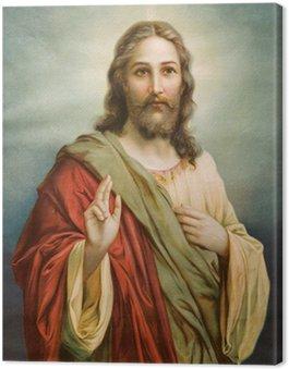 Obraz na Płótnie Kopia obrazu typowej katolickiej Jezusa Chrystusa