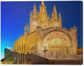 Obraz na Płótnie Kościół na górze Tibidabo w Barcelonie
